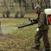 Омский парк обработали от комаров