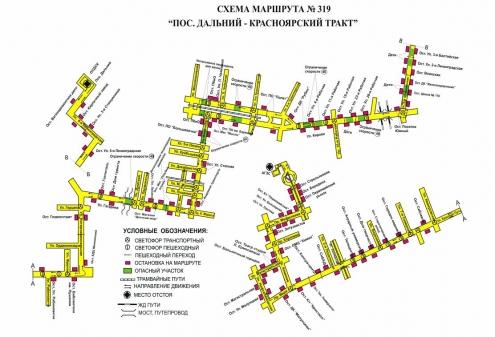 схема движения 16 маршрутного такси