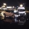 Пассажирская ГАЗелька и иномарка столкнулись у омского музтеатра