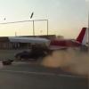В Чечне самолет сбил машину