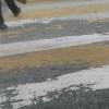 Соцсети: новая дорожная разметка в Омске растаяла с первым снегом