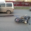 В центре Омска после ДТП погиб мотоциклист