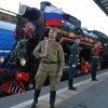Прямая трансляция: Поезд Победы на Омском железнодорожном вокзале