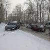 ВАЗ лишился передней части после столкновения с «Лексусом» в Омске