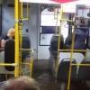 Ливень в Омске сделал из автобуса амфибию