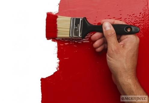 Как красить виниловые обои