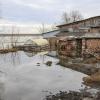 В Омской области река Аркарка начала топить предместья Тары