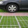 Конструкция обычной пластиковой газонной решетки