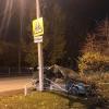 Пьяный водитель в Омске снес ограждение под знаком «Осторожно дети»