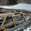 В Омской области ураган сорвал крышу с больницы