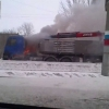 """На трассе """"Омск-Тюмень"""" полчаса тушили загоревшийся грузовик"""