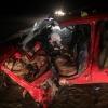 Под Омском автоледи на иномарке столкнулась на встерчке с фурой