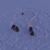 Омичи выложили на льду Иртыша эмбриона из 400 свечей