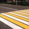 Бело-желтая «зебра» появится на 245 пешеходных переходах в Омске