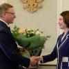 Бурков поздравил Фадину с избранием мэром Омска