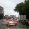 Сильный дождь топит улицы Омска