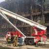 Омские пожарные 9 мая тушили бывший завод пластмасс