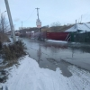 В Омске затопило улицу в Центральном округе