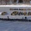 Омские спасатели встали на коньки ради необычного поздравления с 8 Марта