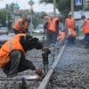 В Омске до 1 ноября обновят трамвайные рельсы