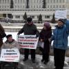 Незрячие устроили пикет из-за отсутствия доступной среды
