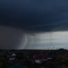 В Омске и области штормовой ветер и ливень
