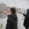 В центре Омска боролись с рекламой наркотиков