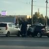 У Юбилейного моста в Омске произошла первая авария