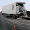 На трассе Тюмень-Омск столкнулись две фуры: оба водителя в больнице