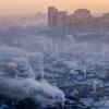 Омскую область окутал туман