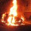 В Омске ночью загорелась Lada Priora