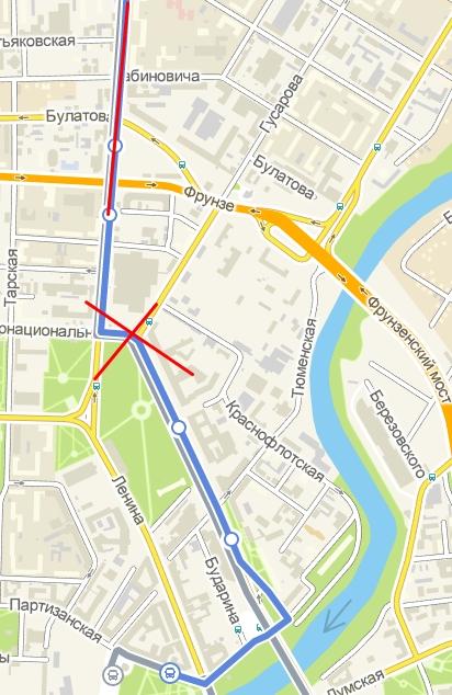 движение автобусов маршрута