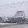 Главную елку Омска начали устанавливать у Музыкального театра