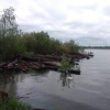 Основание Красногорской плотины в Омском районе укрепляют бетоном