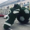 У «Каскада» создали арт-объект в тему футбола