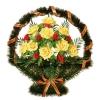 Ритуальные корзины из живых цветов – выражение скорби без слов