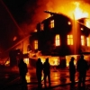 В Омске на Левобережье сгорел трехэтажный магазин