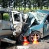 Лобовое ДТП на Красном Пути: части машин разбросало на десятки метров
