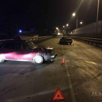 После проверки водителей на трезвость в Омске произошло ДТП с пьяным за рулем