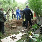 Омские следователи изучают скелет военного
