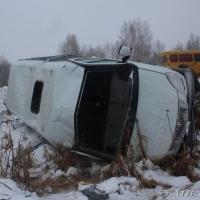 На трассе Омск-Тара перевернулась ГАЗель со студентами