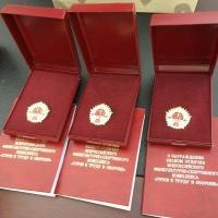 В омском университете физкультуры вручили золотые значки ГТО