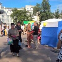 Омичка в День города прогулялась голышом напротив мэрии
