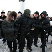 Вчера на митинге полиция начала задержания граждан