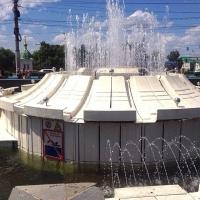 В Омске в День ВДВ отключили фонтан у Музыкального театра