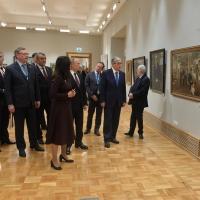 Путин и Токаев посмотрели работу омского художника в «Эрмитаже-Сибирь»