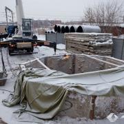 В Амурском посёлке Омска начали строить ливневую канализацию