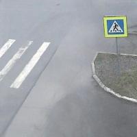 В Омске маршрутка сбила бабушку на пешеходном переходе