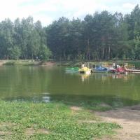 В омском парке оборудовали берег у озера