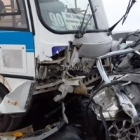 Авария на мосту 60 лет ВЛКСМ, унесшая жизни троих человек, попала на видео